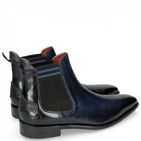 Stiefeletten Dave 5 Nappa Navy Electric Blue