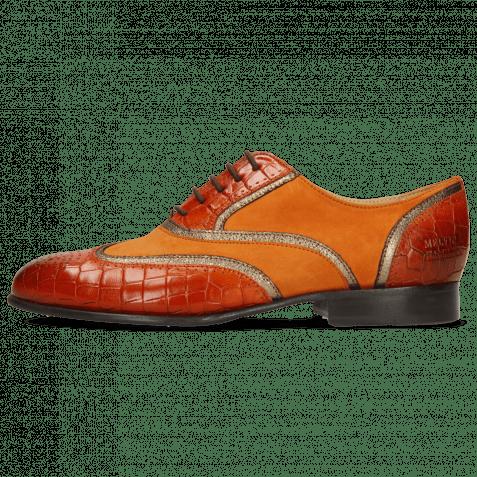 Oxford Schuhe Sally 38 Crock Winter Orange Nappa Aztek Bronze