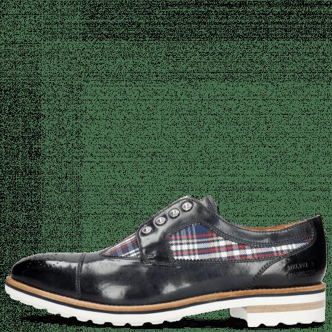 Derby Schuhe Tom 22 Navy Textile Check Multi