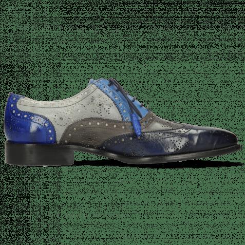Oxford Schuhe Jeff 28 Imola Navy Deep Steel Shock Digital Electric Blue