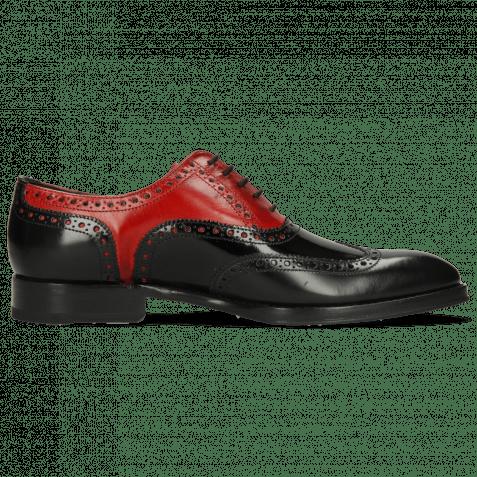 Oxford Schuhe Kane 36  Rubber Patent Black Ruby