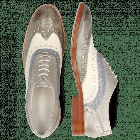 Oxford Schuhe Amelie 10 Vegas Grigio White Morning Grey Digital
