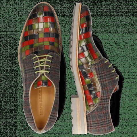 Derby Schuhe Brad 7 Woven Multi Textile Charcoal