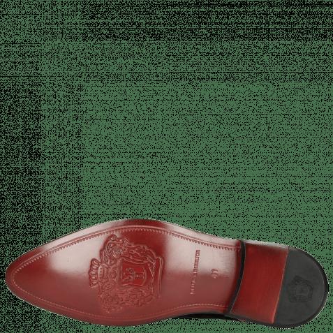 Derby Schuhe Toni 1 Suede Black Embroidery Heartpeak