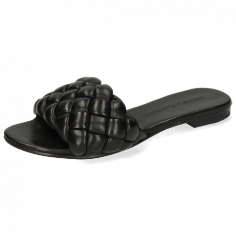 Pantoletten Hanna 78 Nappa Black Footbed