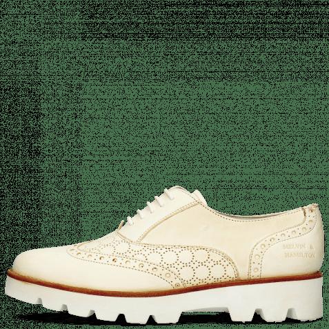 Oxford Schuhe Selina 24 Vegas Perfo White