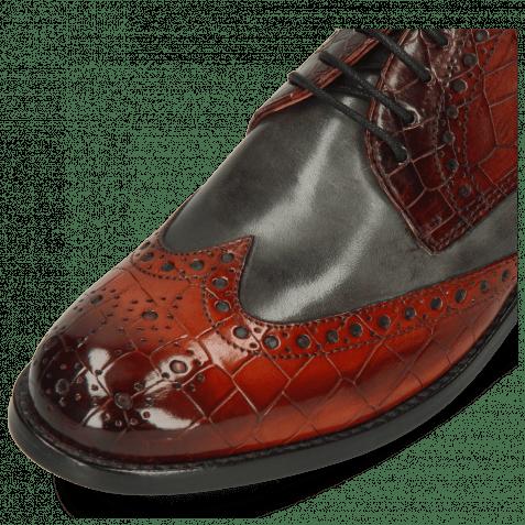 Derby Schuhe Amelie 3 Vegas Crock Brandy Plum Yellow Vegas Glicine Flex
