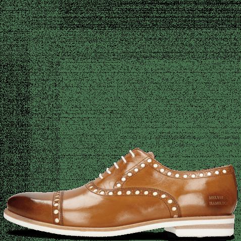 Oxford Schuhe Scott 15  Tan Underlay Patent White