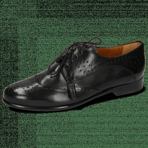 Derby Schuhe Selina 41 Black Lining Rich Tan