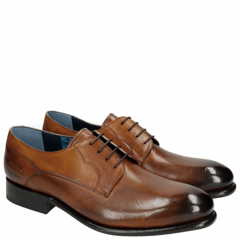 Derby Schuhe Charles 1 Dark Brown LS
