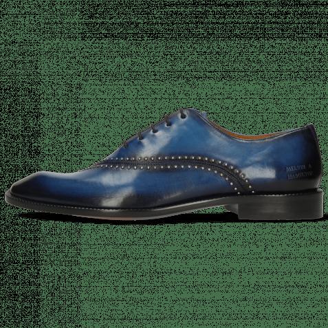 Oxford Schuhe Gaston 2  Mid Blue Shade Navy Rivets