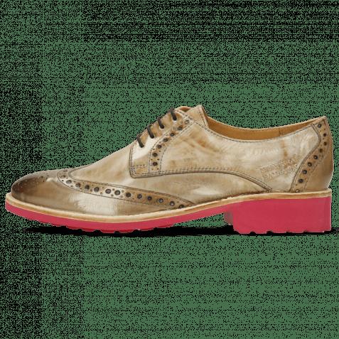 Derby Schuhe Amelie 3 Crust New Sand