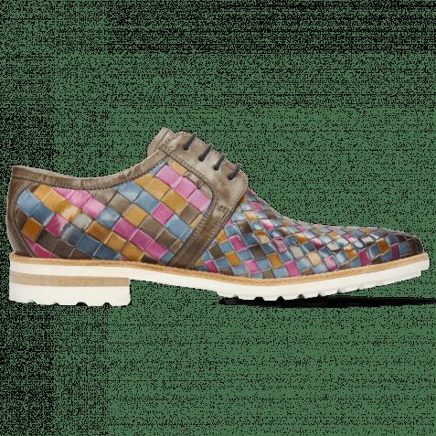 Derby Schuhe Brad 1 Vegas Woven Multi Stone