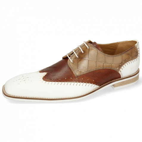 Derby Schuhe Clark 1 Rubber White Tan Turtle
