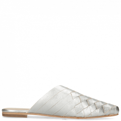 Pantoletten Alexa 12 Woven Cherso Silver Mint