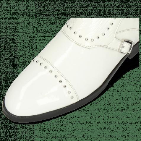 Stiefeletten Susan 45 Soft Patent White Rivets