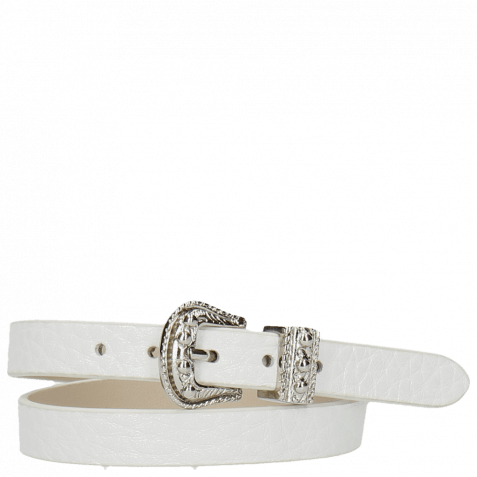 Armbänder Ines 1 Milled White Buckle Nickle