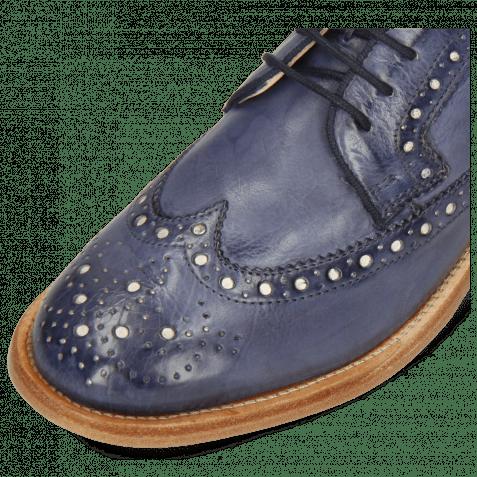 Derby Schuhe Jade 2 Imola Avio Underlay White