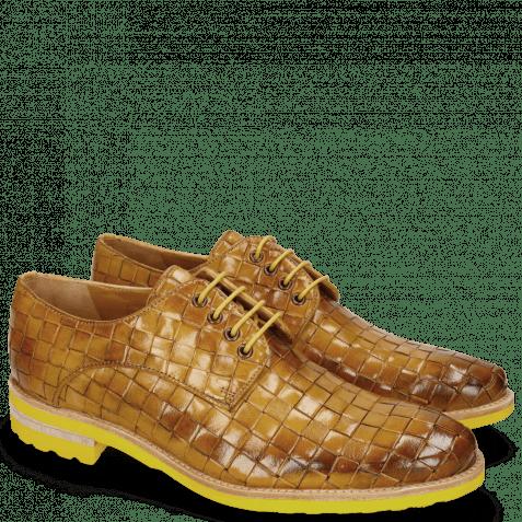 Derby Schuhe Brad 7 Woven Yellow Lining
