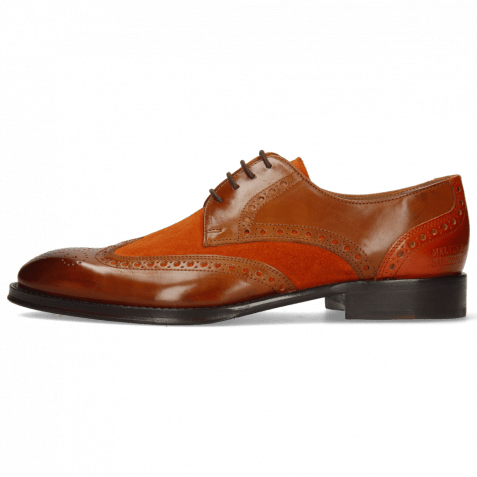 Derby Schuhe Kane 5 Wood Suede Pattini Orange
