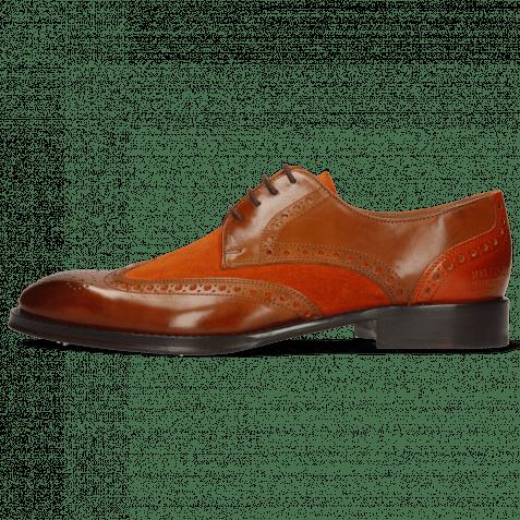 Derby Schuhe Kane 5 Wood Suede Pattini Orange