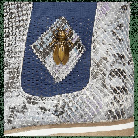 Stiefeletten Susan 10A Snake Multi Turquoise Elastic Guglia Navy