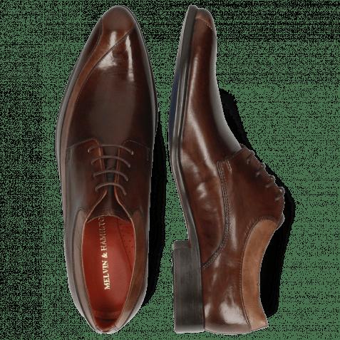 Derby Schuhe Toni 36 Chestnut Mink