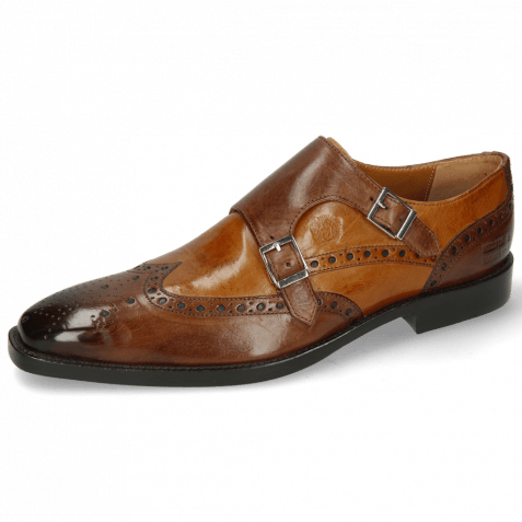 Monk Schuhe Martin 1 Berlin Mid Brown Tan