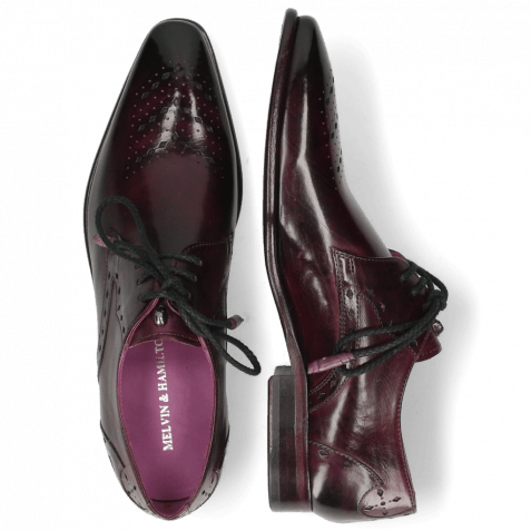 Derby Schuhe Elvis 1 Viola Lining