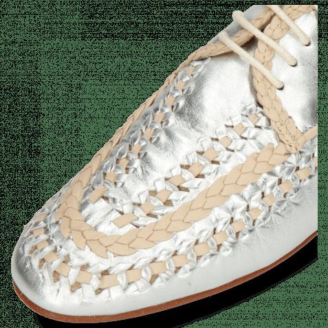 Derby Schuhe Aviana 2 Silver Nappa Interlaced