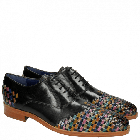 Oxford Schuhe Lewis 17 Classic Black Interlaced Multi