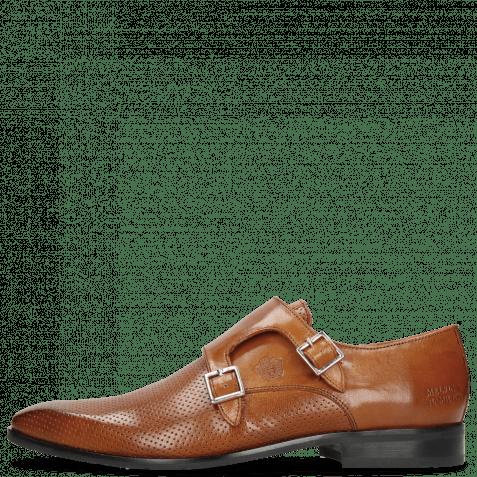 Monk Schuhe Rico 3 Rio Perfo Tan Rubber Navy