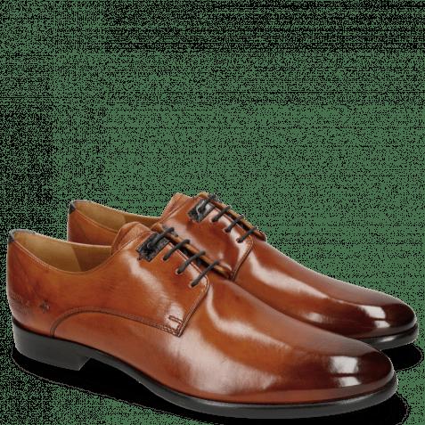 Derby Schuhe Clint 1 Tan Deco Pieces Marine