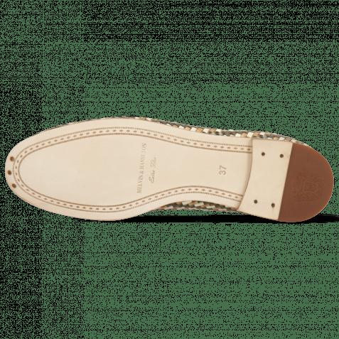 Loafers Scarlett 52 Vegas Haring Bone Weave Smoke White Tortora