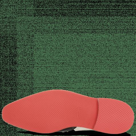 Derby Schuhe Dave 2 Black Vegas Perfo White Nappa Red