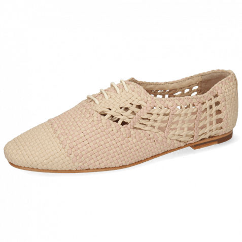 Oxford Schuhe Aviana 3 Woven Off White Lavanda