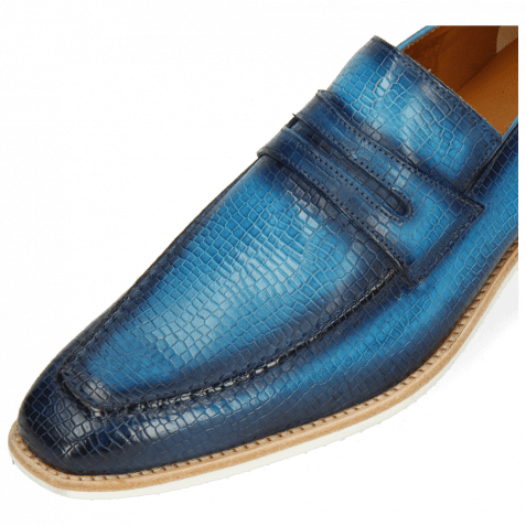 Loafers Leonardo 4 Vegas Skink Washed Turquoise Shade Navy