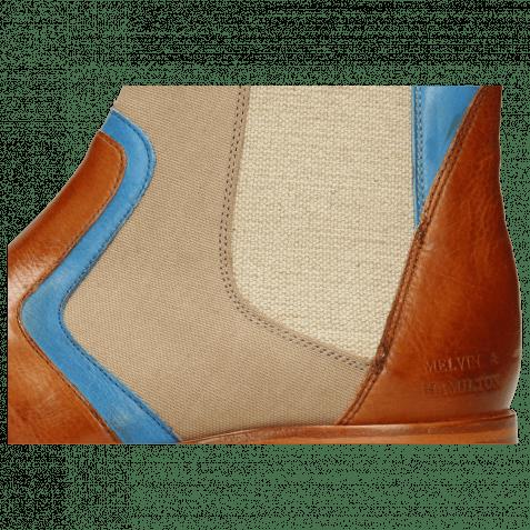 Stiefeletten Lewis 26 Imola Tan Mid Blue Textile Indonesia Camel
