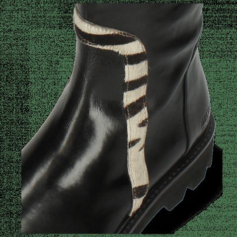 Stiefel Sally 161 Imola Black Hairon Wide Zebra