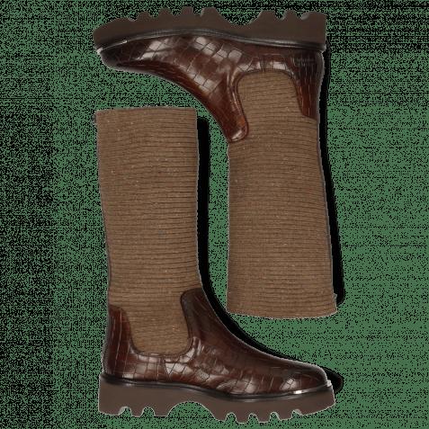 Stiefel Elena 9 Vegas Crock Dark Chocolate Brown