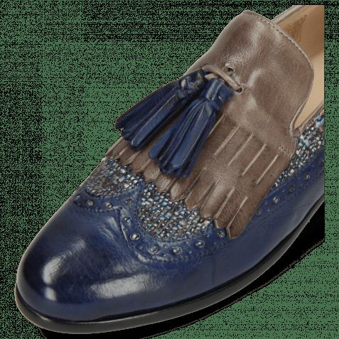 Loafers Selina 3 Imola Marine Textile Grey