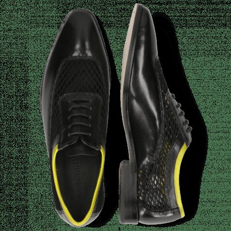Oxford Schuhe Sara 1 Black Big Net Fluo Yellow
