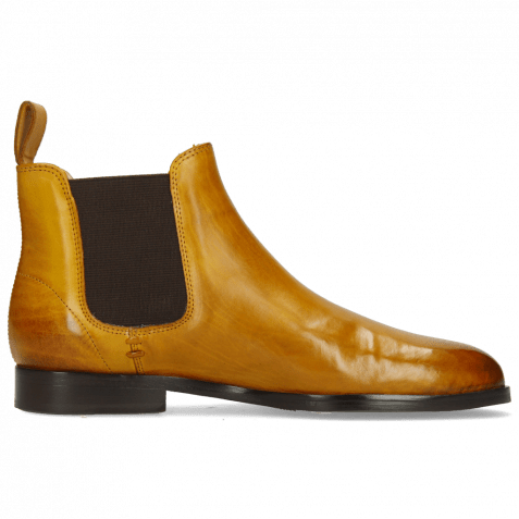 Stiefeletten Susan 10 Indy Yellow Elastic Dark Brown