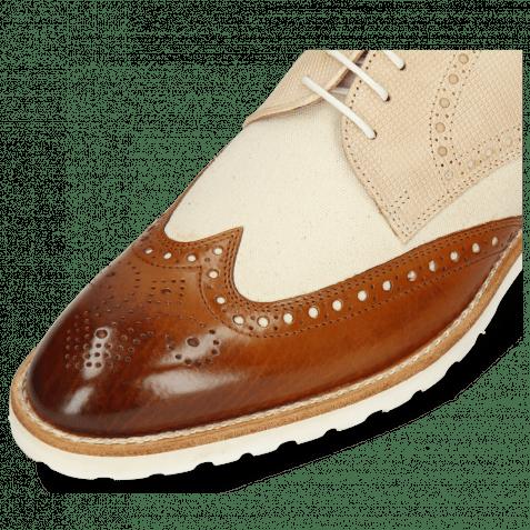 Derby Schuhe Kane 2 Tan Dice Beige Canvas White