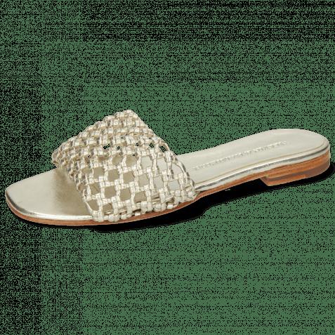 Pantoletten Elodie 32 Mignon Platina Footbed