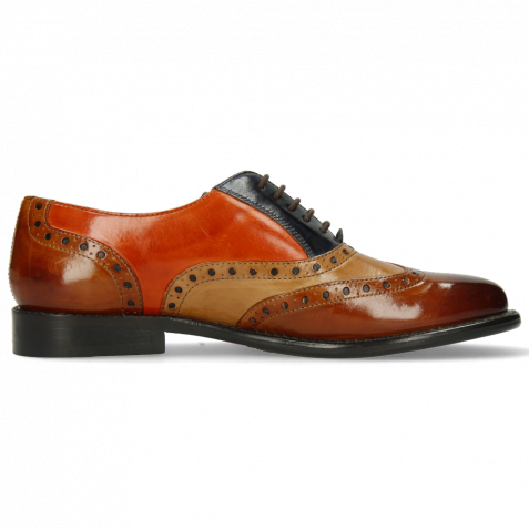 Oxford Schuhe Selina 24 Cognac Sand Marine Winter Orange