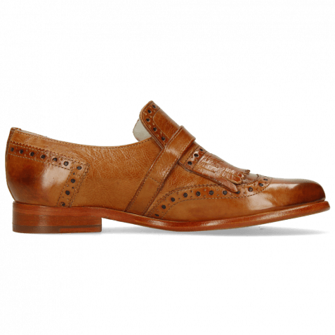 Monk Schuhe Selina 2 Pavia Tan Strap Tan Collar