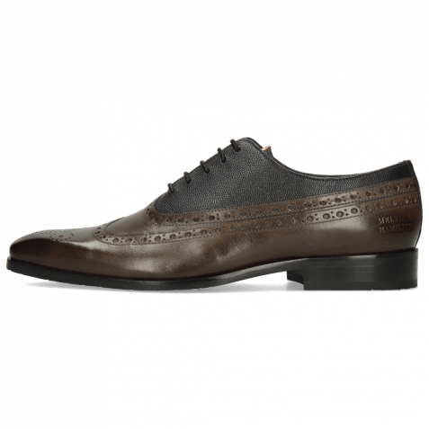 Oxford Schuhe Rico 39 Rio Deep Steel Little Scotch Navy