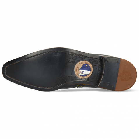 Derby Schuhe Lance 66 Galap Navy Underlay Fluo