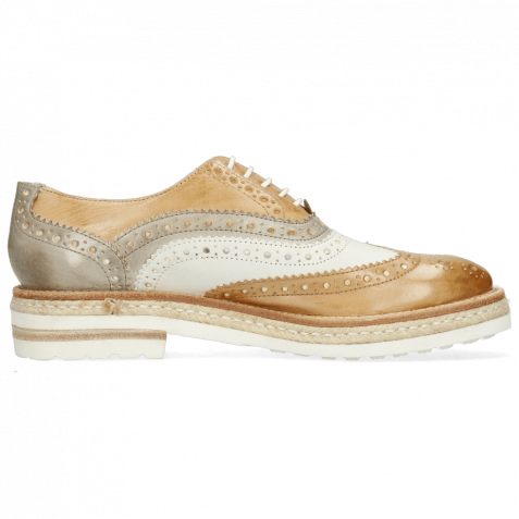 Oxford Schuhe Amelie 10 Imola Sand White Oxygen